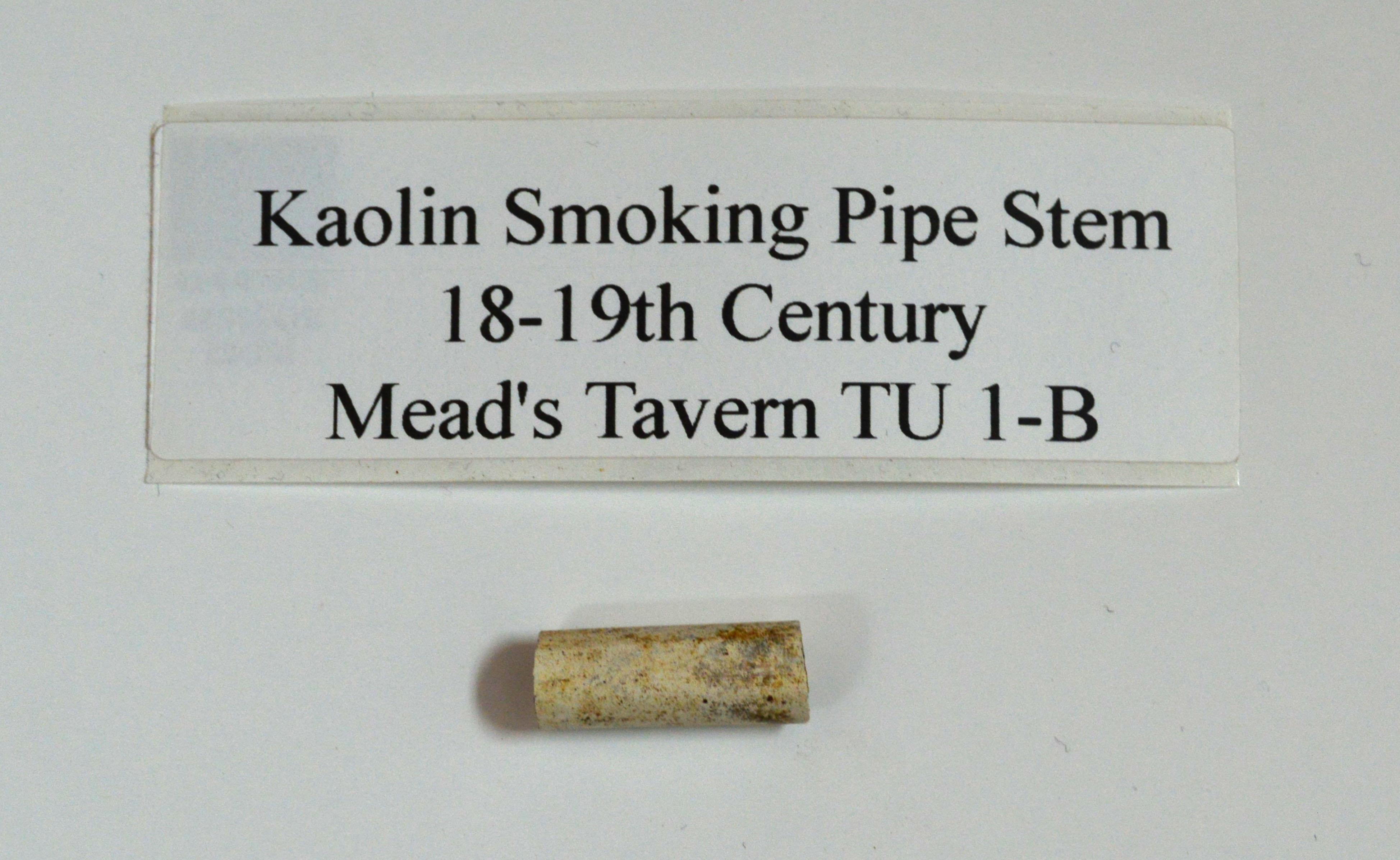 Kaolin Smoking Pipe Stem